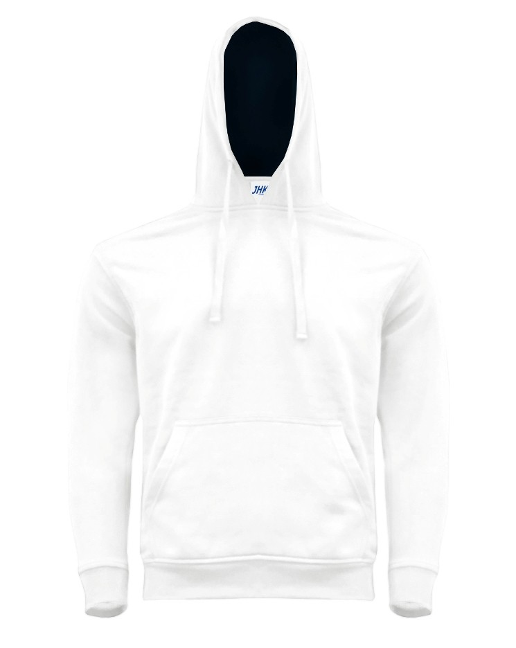 OCEAN KANGAROO HOODED CONTRAST WHITE/NAVY
