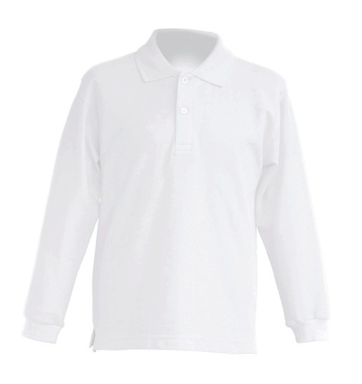Polo KID LS JHK PKID 200 LS WHITE