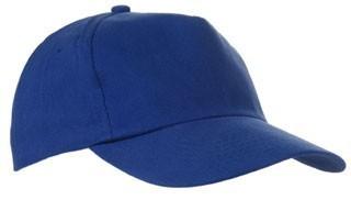 Czapka pięciopanelowa CZA001 - kolor ROYAL BLUE