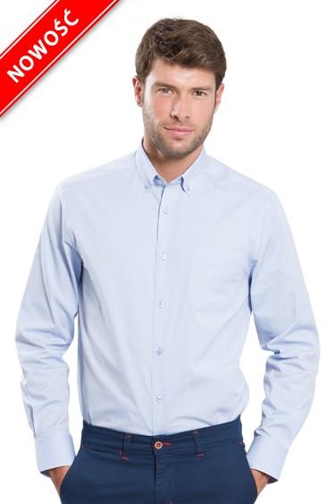 Koszula męska SHAOXF SKY BLUE