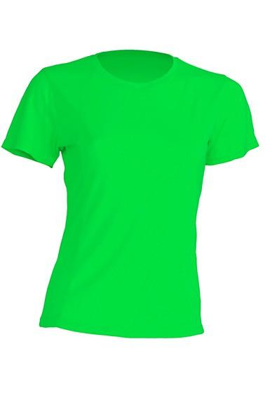 T-shirt JHK, damski sportowy - SPORT T-SHIRT LADY - LIME FLUOR