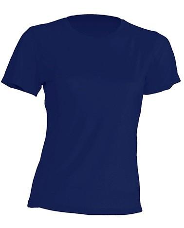 T-shirt JHK, damski sportowy - SPORT T-SHIRT LADY - NAVY