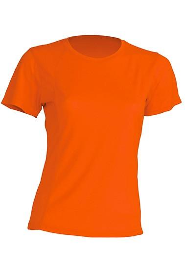 T-shirt JHK, damski sportowy - SPORT T-SHIRT LADY - ORANGE FLUOR