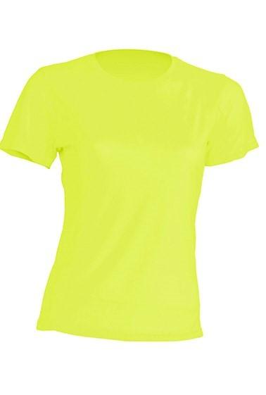 T-shirt JHK, damski sportowy - SPORT T-SHIRT LADY - GOLD FLUOR