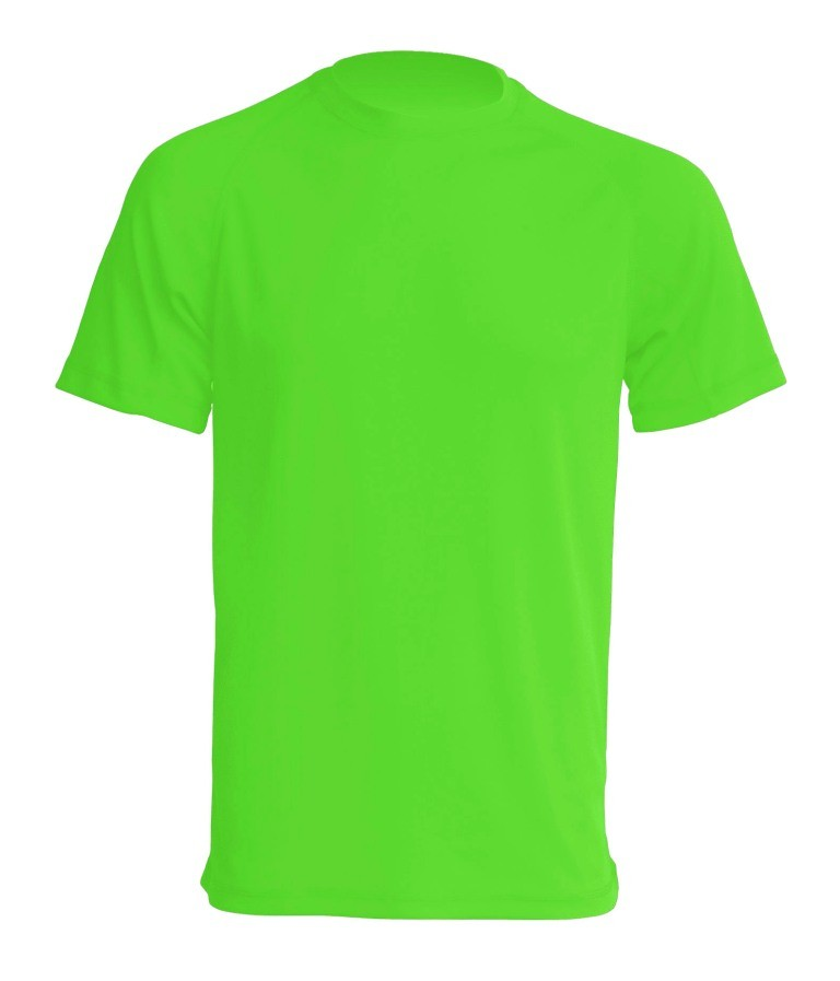 T-shirt JHK SPORT T-SHIRT MAN - LIME FLUOR