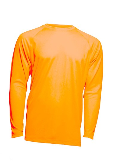 SPORT T-SHIRT MAN LS  - ORANGE FLUOR