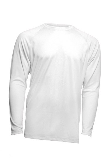 SPORT T-SHIRT MAN LS - WHITE
