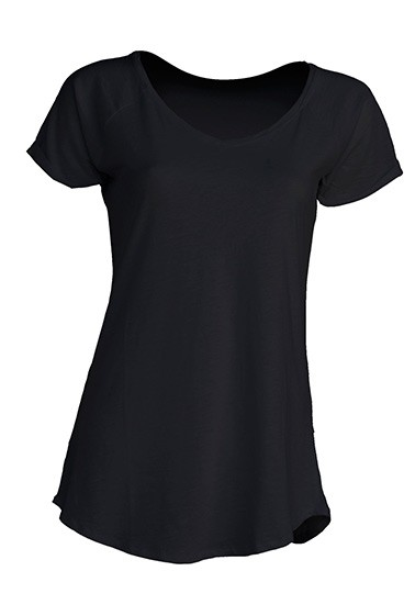 Damski T-shirt. URBAN SEA LADY. TSLSEA - BLACK