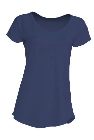 Damski T-shirt. URBAN SEA LADY. TSLSEA - DENIM