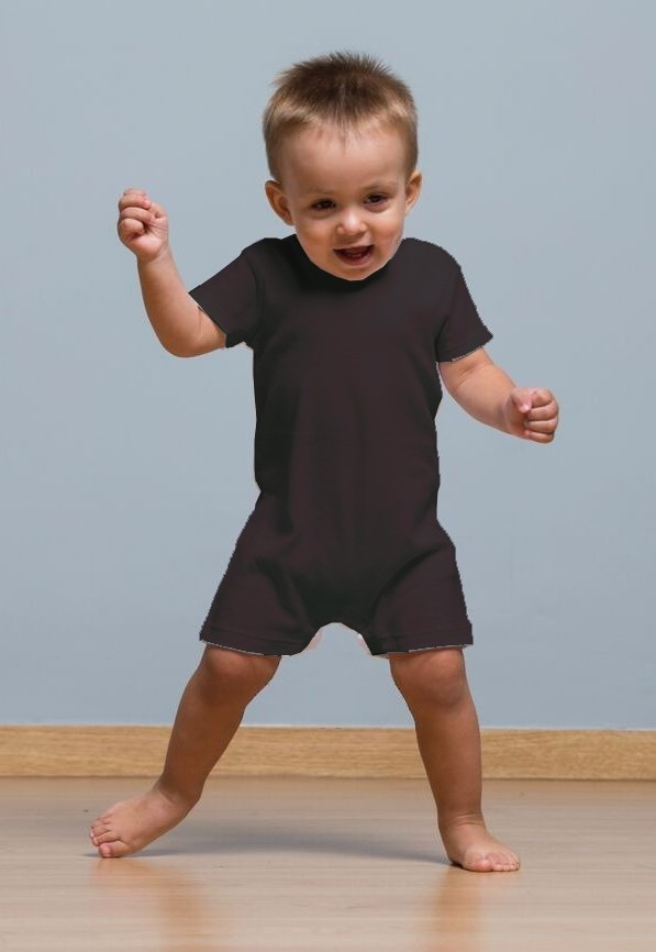 BABY PLAYSUIT - BLACK