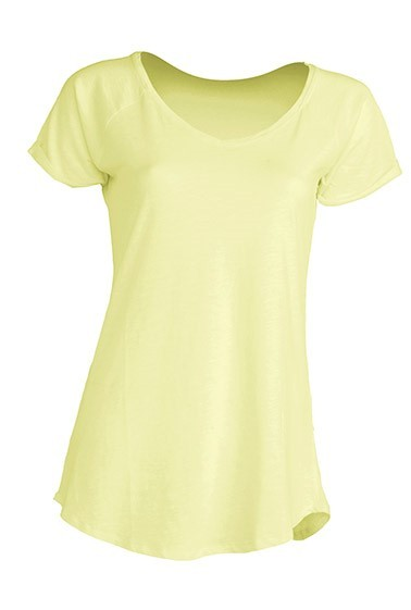 Bluzka damska JHK Slub Lady TSUL SLB - LIGHT YELLOW NEON
