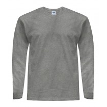 T-Shirt męski z długim rękawem TSRA170LS - GREY MELANGE