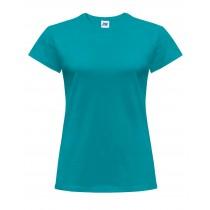 T-shirt damski JHK TSRLCMF - TURQUOISE