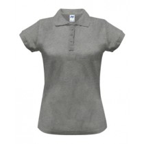 Polo damskie POPL 200 GREY MELANGE