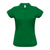 Polo damskie POPL 200 KELLY GREEN