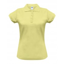 Polo damskie POPL 200 LIGHT YELLOW