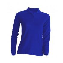 Polo damskie z długim rękawem JHK POPL 200 LS ROYAL BLUE