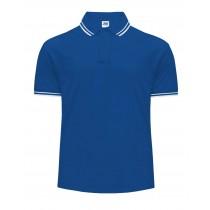 Polo męskie JHK PORA 210 CONTRAST ROYAL BLUE/WHITE