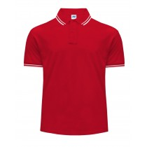 Polo męskie JHK PORA 210 CONTRAST RED/WHITE
