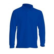 Polo męskie z długim rękawem JHK PORA 210 LS ROYAL BLUE