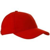 Czapka sześciopanelowa CZA006 - RED