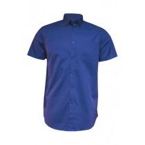 Koszula męska z krótkim rękawem SHAOXFSS ROYAL BLUE