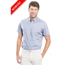 Koszula męska z krótkim rękawem SHAOXFSS SKY BLUE