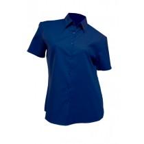 Koszula damska z krótkim rękawem SHLOXFSS ROYAL BLUE