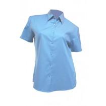 Koszula damska z krótkim rękawem SHLOXFSS  SKY BLUE