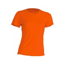 T-shirt JHK, damski sportowy - SPORT T-SHIRT LADY - ORANGE FLUOR