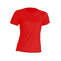 T-shirt JHK, damski sportowy - SPORT T-SHIRT LADY - RED