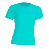 T-shirt JHK, damski sportowy - SPORT T-SHIRT LADY - TURQUOISE