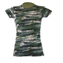 T-shirt damski JHK TSRLCMF - CAMOUFLAGE