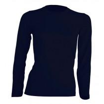 T-shirt damski z długim rękawem JHK TSRL150 LS NAVY