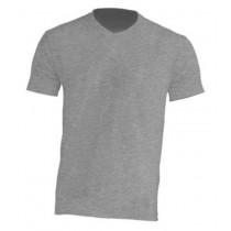 T-Shirt V-neck JHK TSUA PICO - GREY MELANGE