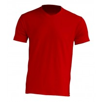 T-Shirt V-neck JHK TSUA PICO RED