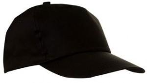 Czapka pięciopanelowa CZA001 - kolor BLACK