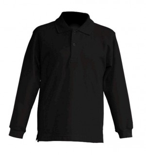 Polo KID LS JHK PKID 200 LS BLACK