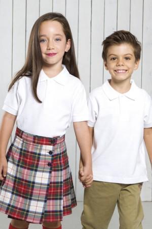Polo SCHOOL WEAR   PKID210SCH - WHITE