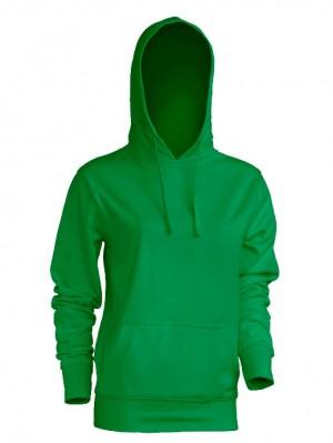 Bluza damska z kapturem SWUL KNG KELLY GREEN