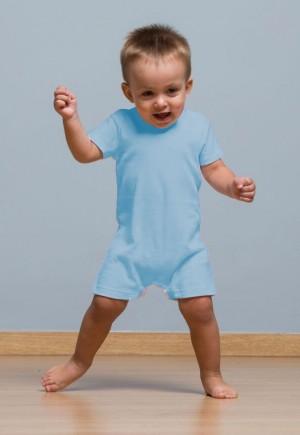 BABY PLAYSUIT - SKY BLUE